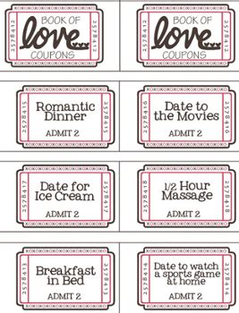 boyfriend coupons template free printable coupon booklet happy money saver