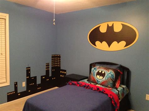 boys batman bedroom cityscape for my son s batman room diy pinterest