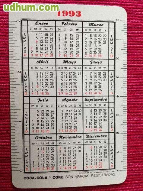 Calendario De 1993 Calendario Coca Cola 1993