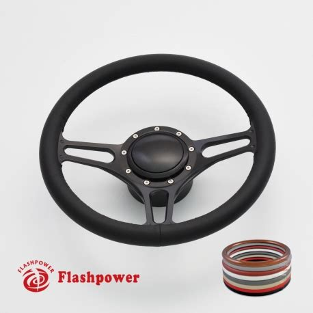 boat steering wheel with horn 14 black billet steering wheels full wrap wood ididit
