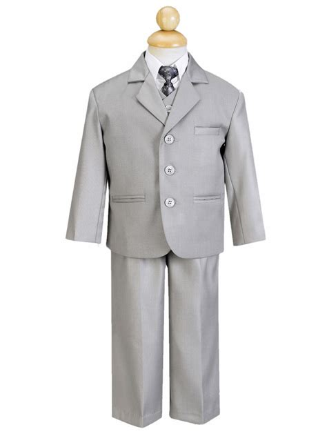 boys light gray suit boys light grey 5 suit