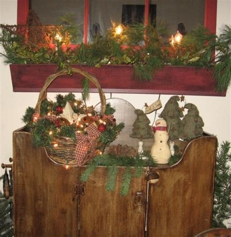 country home christmas decorating ideas primitive country christmas decorations ideas for