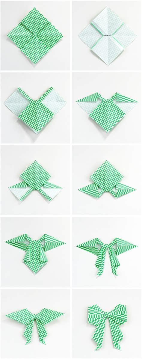 Origami Bows - diy origami bow gathering