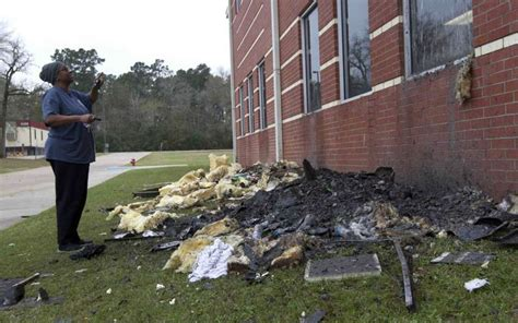 section 11 damages fire damages bear branch junior high near the woodlands