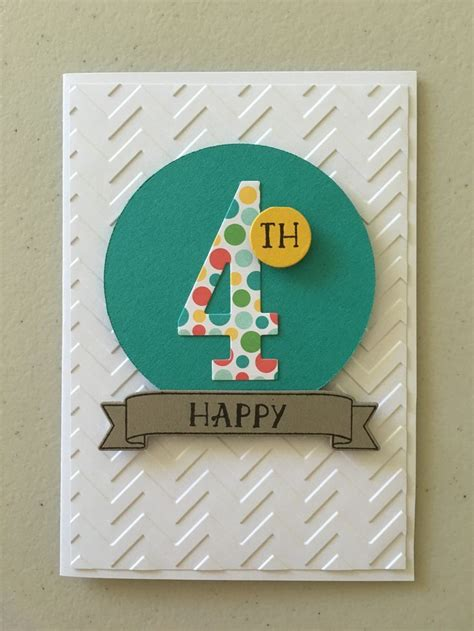Big Handmade Birthday Cards - handmade birthday card die cut big number for paper