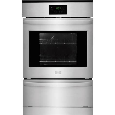 Oven Gas Built In frigidaire 24 quot built in single gas wall oven silver