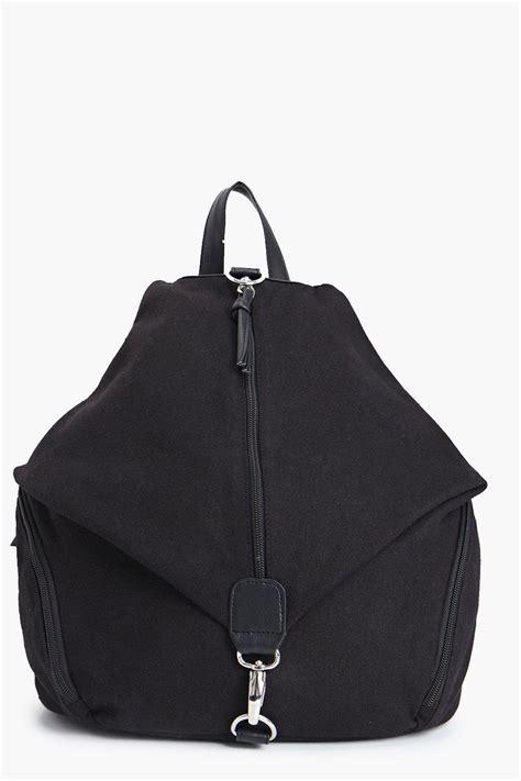 shop boohoo backpack in black at modalist