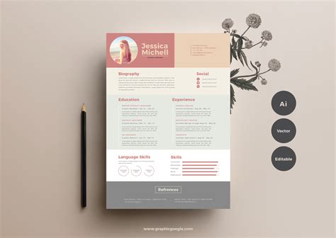 by template free free simple resume template