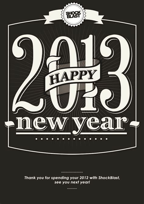 we wish you a happy new year shockblast