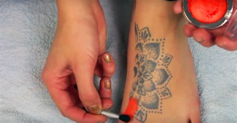 cover up tattoos makeup here s a technique to magically cover up your tattoos with