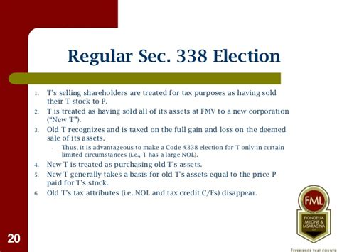 section 338 h 10 election buying selling a business tax considerations