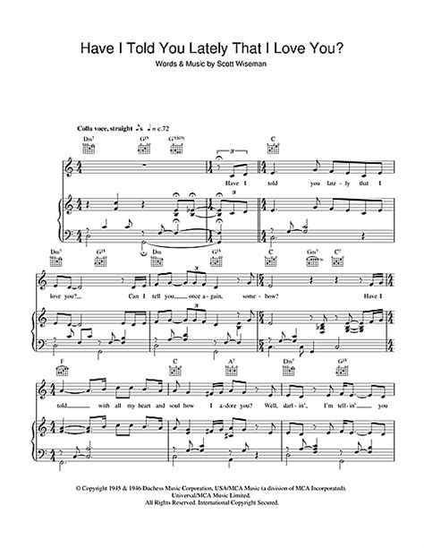 Have I Told You Lately That I Love You? sheet music by