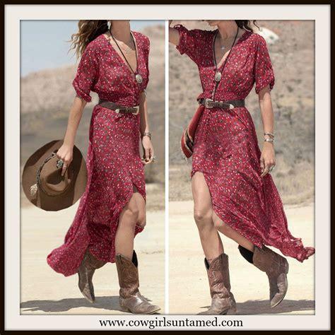 Wst 17567 Black Flower Shirt Dress western dress floral button front maxi dress
