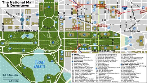 washington dc map of attractions file national mall map png wikimedia commons