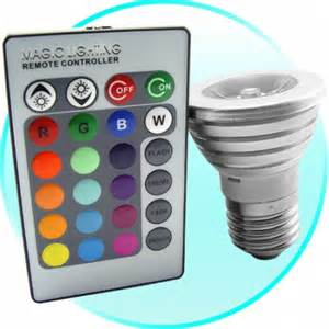 led color changing lights with remote remote controlled color changing lightbulb craziest gadgets