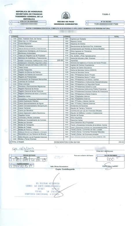 formulario tgr 1 secretaria de finanzas repblica de recibo de pago tgr 1 newhairstylesformen2014 com