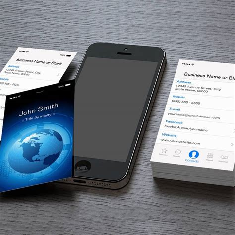 ios card template information technology cool iphone ios design business