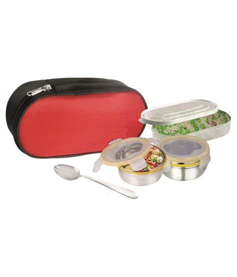 Box Acrylic Roti perfeto steel containers with lock plastic lid and roti container lunch box buy at best