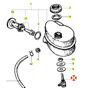 raccordo rubinetto raccordo rubinetto serbatoio olio miscelatore per vespa