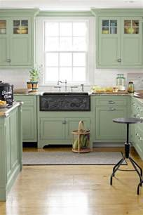 coloured kitchen cabinets 25 best ideas about green kitchen cabinets on pinterest