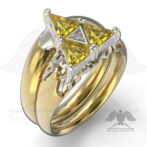 3 triangles be my ring engagement and wedding band