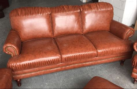 Ex Display Leather Sofas Ex Display Chesterfield Style Leather Look Sofa Set We Deliver Uk Wide Smethwick Dudley