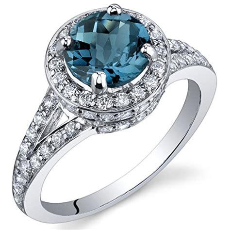 Cincin Baby Blue Topaz Sterling 925 Silver Size 7 1 blue topaz halo ring sterling silver rhodium nickel finish 1 50 carats size 6 buy