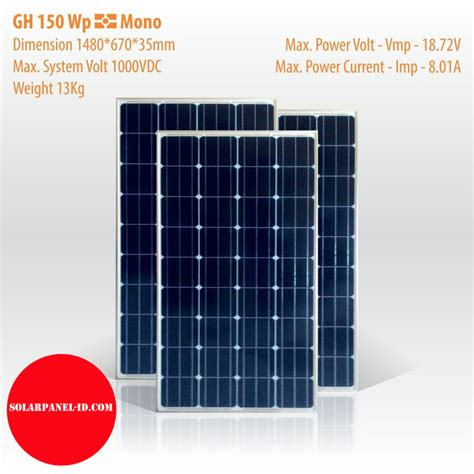 Solar Panel Cell Surya Module Gh 100 Wp 100wp 12v 12 V Poly Murah jual solar panel gh 150 wp mono distributor panel surya