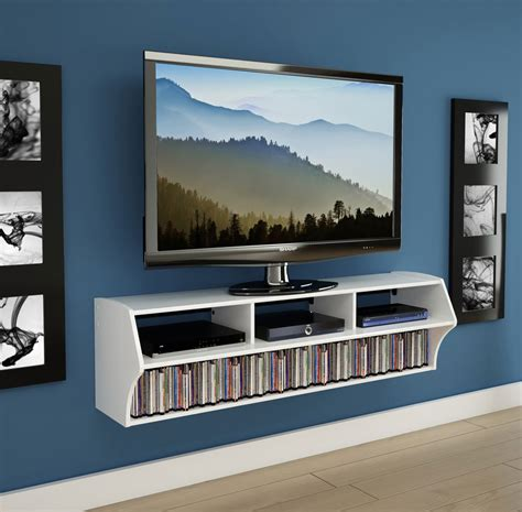 Wall Tv by Wall Mounted Tv Console In Tv Stands
