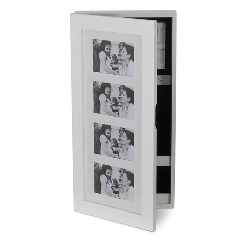 photo frame jewelry armoire white elegant wall mount 4 photo frame holder jewelry
