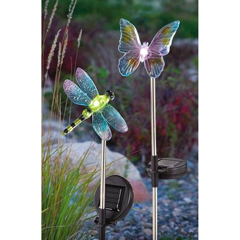 2 Pk Of Decorative Solar Lights 216042 Solar Decorative Garden Lights