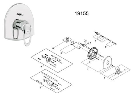 Grohe Showers Spare Parts by Grohe Chiara Manual Shower Valve Trim Plate Chrome