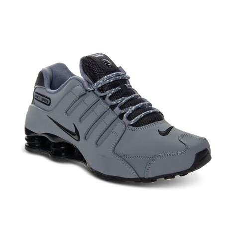 Grey Sneakers lyst nike mens shox nz eu running sneakers in gray for