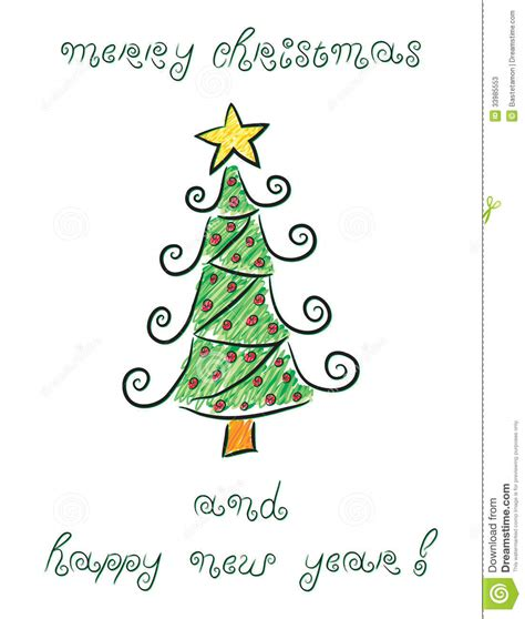 doodle christmas tree stock vector image of decor merry