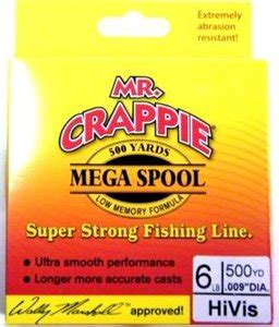 mr crappie fishing line mr crappie mr crappie fishing line yellow featured
