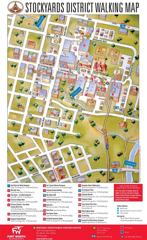 map of fort worth fort worth stockyards district map
