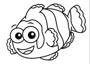 printable cartoon clown fish coloring page