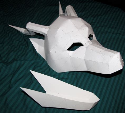 How To Make A 3d Mask Out Of Paper - paper mask by chickentech on deviantart