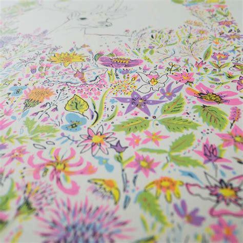 flower design rowlands gill floral fawn print club london