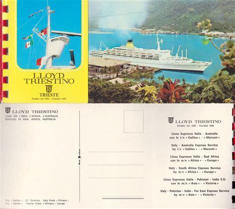 lloyd adriatico sede legale blocchetto di 10 cartoline staccabili a colori lloyd