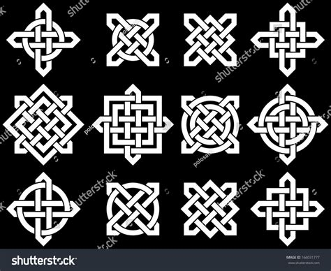 celtic design elements vector celtic knots collection your logo design stock vector