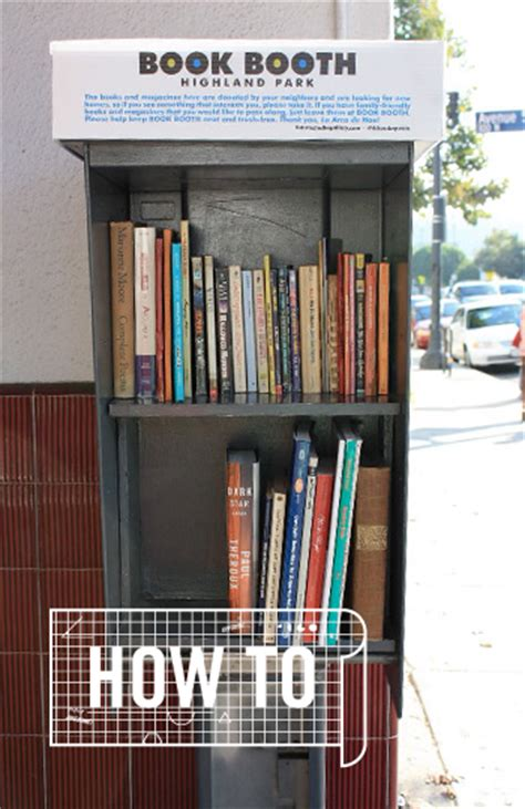 turn an phone booth into a book shelf