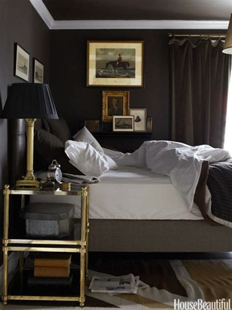 dark grey bedrooms dark walls casually simple