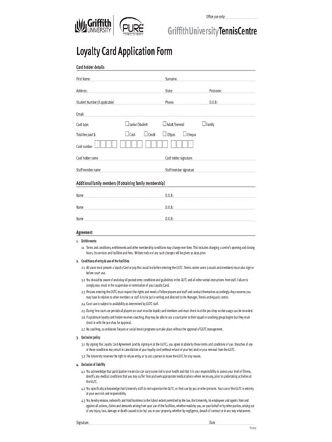 loyalty agreement template loyalty card application form 2 free templates in pdf