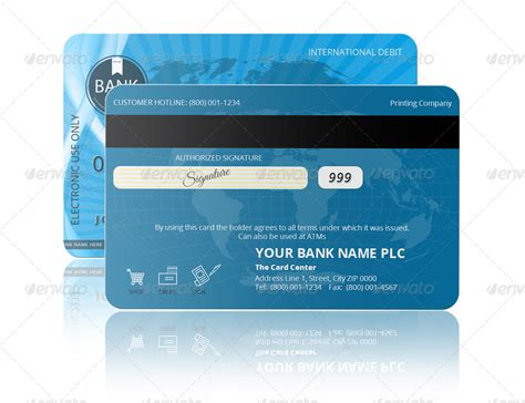 Credit Card Format Photoshop Psd Credit Card Template By Pmvch Graphicriver
