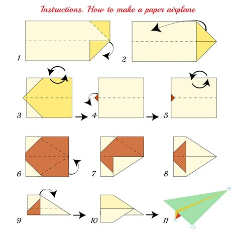 Steps To Make A Paper Airplane - sneak a peek at how to make a paper airplane the