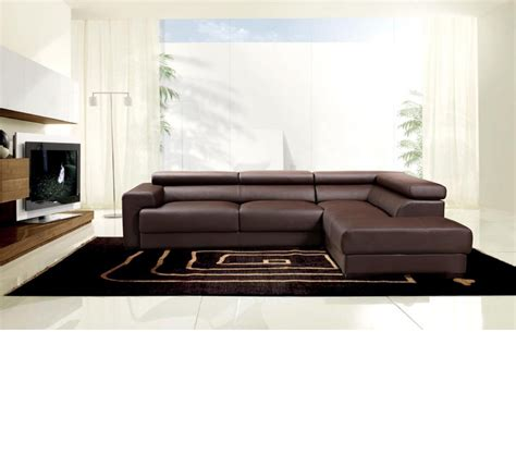 Brown Leather Sofa Sectional Dreamfurniture Modern Brown Leather Sectional Sofa