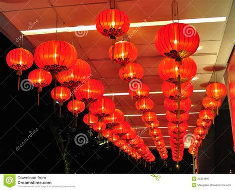 new year decorations lanterns new year decorations with lanterns stock image