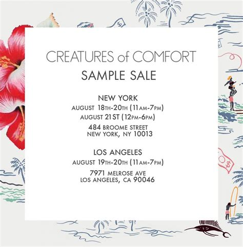 creatures of comfort sale creatures of comfort sle sale los angeles august 2016