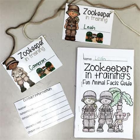 printable zoo name tags zoo field trip name tags and zookeeper in training fun